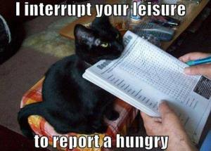I Interrrupt Your Leisure to Report a Hungry