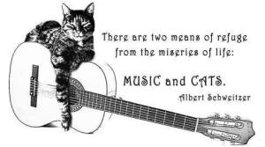 Music and Cats Are Two Means of Refuge