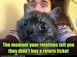 Relatives Didn't Buy a Return Ticket